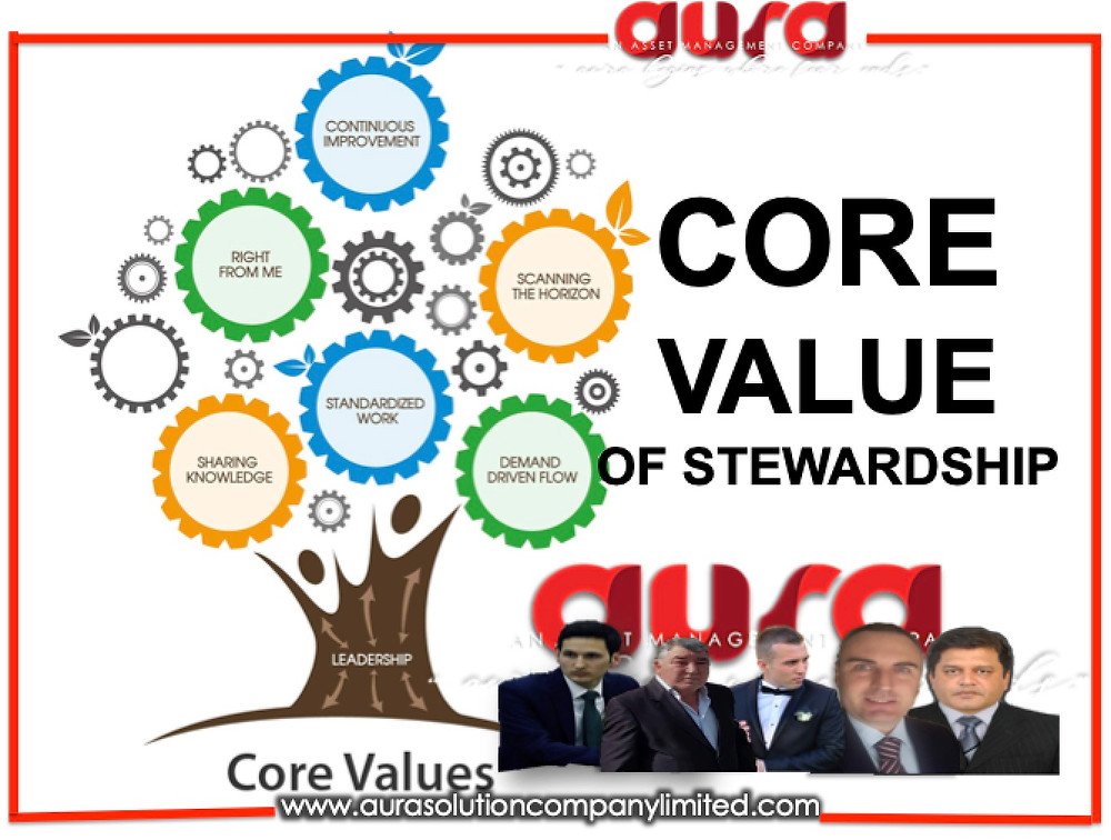 Core value of stewardship : Aura Solution Company Limited