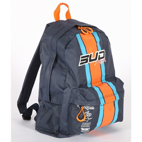 Sac à dos School Bud Racing Race Marine/Orange