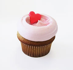 Cupcake con glassa rosa