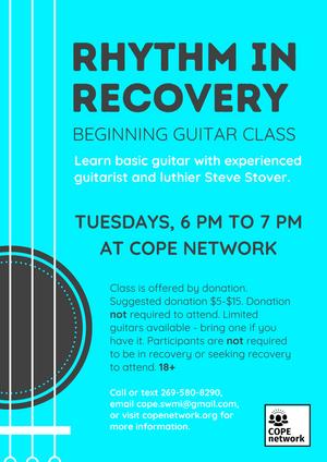 Rhythm In Recovery Flyer