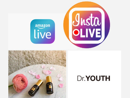 Watch Dr.YOUTH Aroma Live on Amazon and IG Live April 1st 7pm (LA) 10pm (NY)