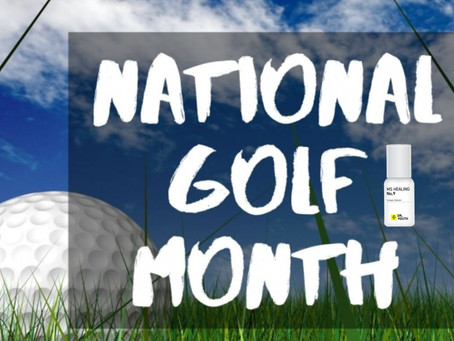 Hey! Everyone It's National Golf Month! 골프치기 전 후로 바르면 손목과 팔꿈치가 편안해지는 닥터유스 아로마롤온 천연오일!