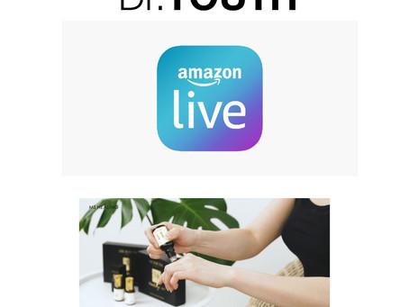 Watch Dr.YOUTH Amazon Live Tomorrow!
