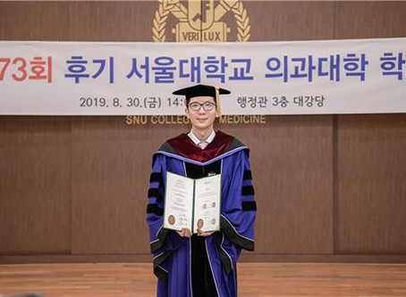 CEO of Dr.YOUTH's Dr.Yousoo Kim obtained a doctorate in medicine at Seoul National University.