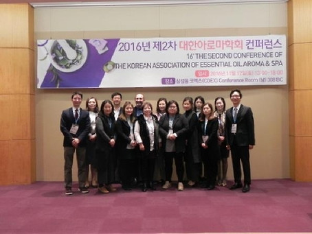 The 2nd Korean Aroma Society Conference succcessfully completed. 제2회 대한아로마학회 컨퍼런스 성료.