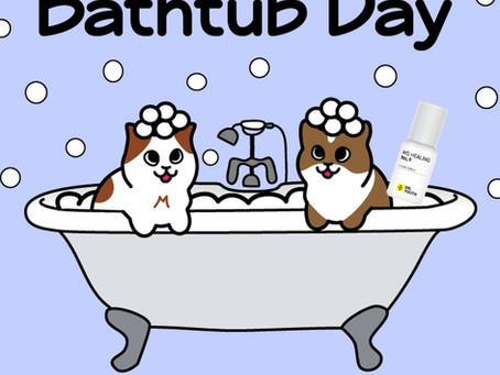 It's National Bathtub Day, Let's Relax! 반신욕할때 사용하면 릴렉스에 너무 좋은 닥터유스 아로마롤온 천연오일