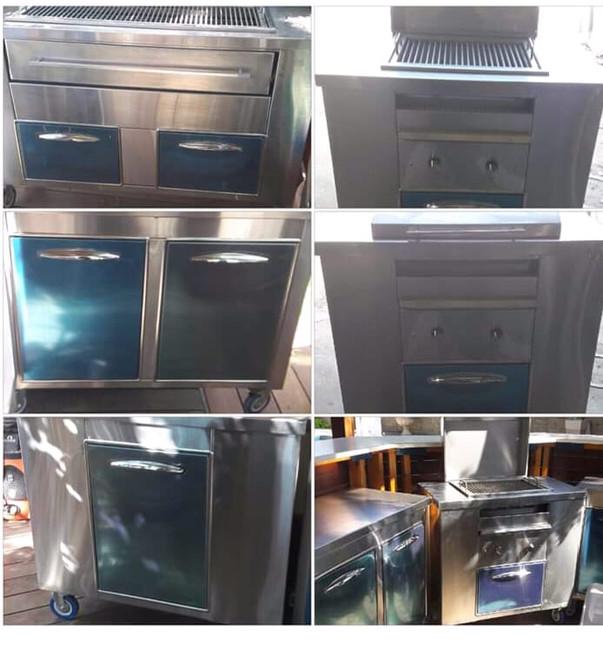 קולאז' תמונות מטבח חוץ נירוסטה