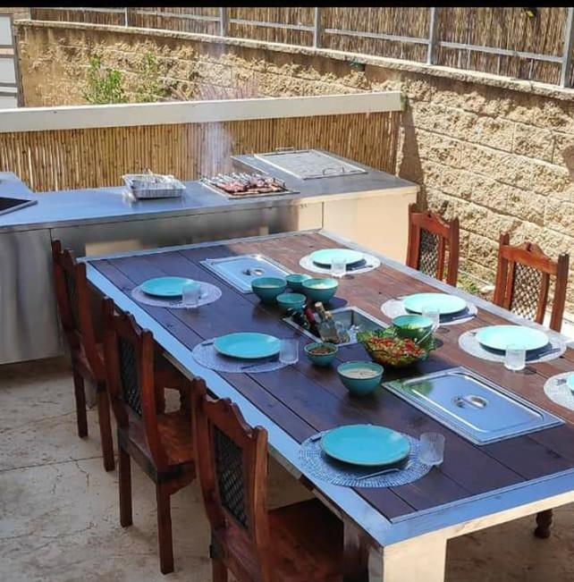 מטבח חוץ נירוסטה