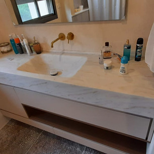 כיור קוריאן לאמבטיה עיצוב שיש מבט על
