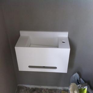 כיור קוריאן לאמבטיה אלכסוני מותקן