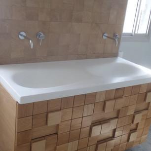 כיור קוריאן לאמבטיה ארון קוביות