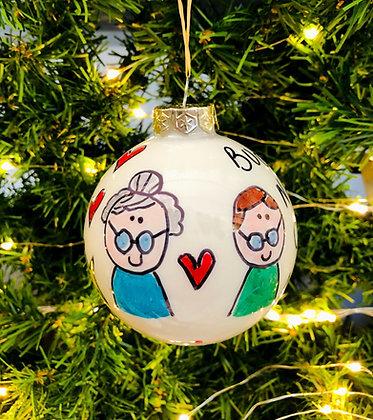 Palla di Natale Nonni