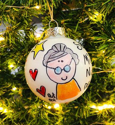 Palla di Natale Nonna