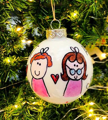 Palla di Natale Amiche