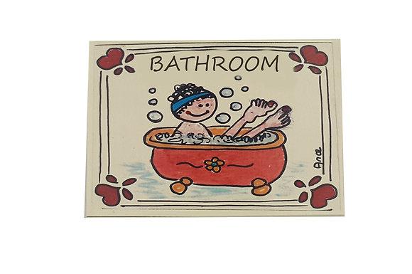 Bathrooms Sign