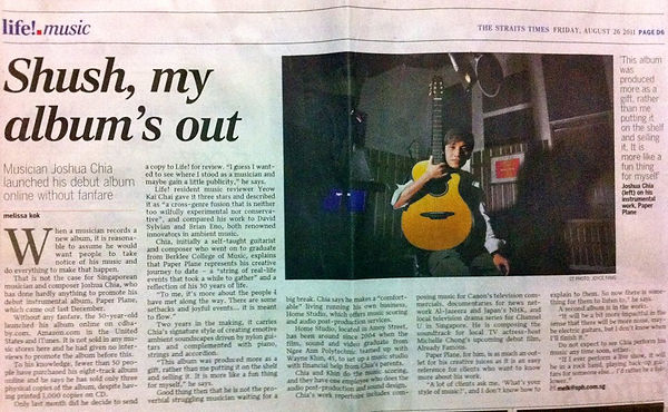 The Straits Times Interview, 26th August 2011