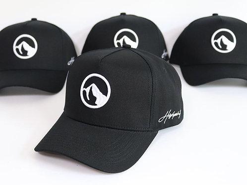Black A-Frame Logo Snapback Hat