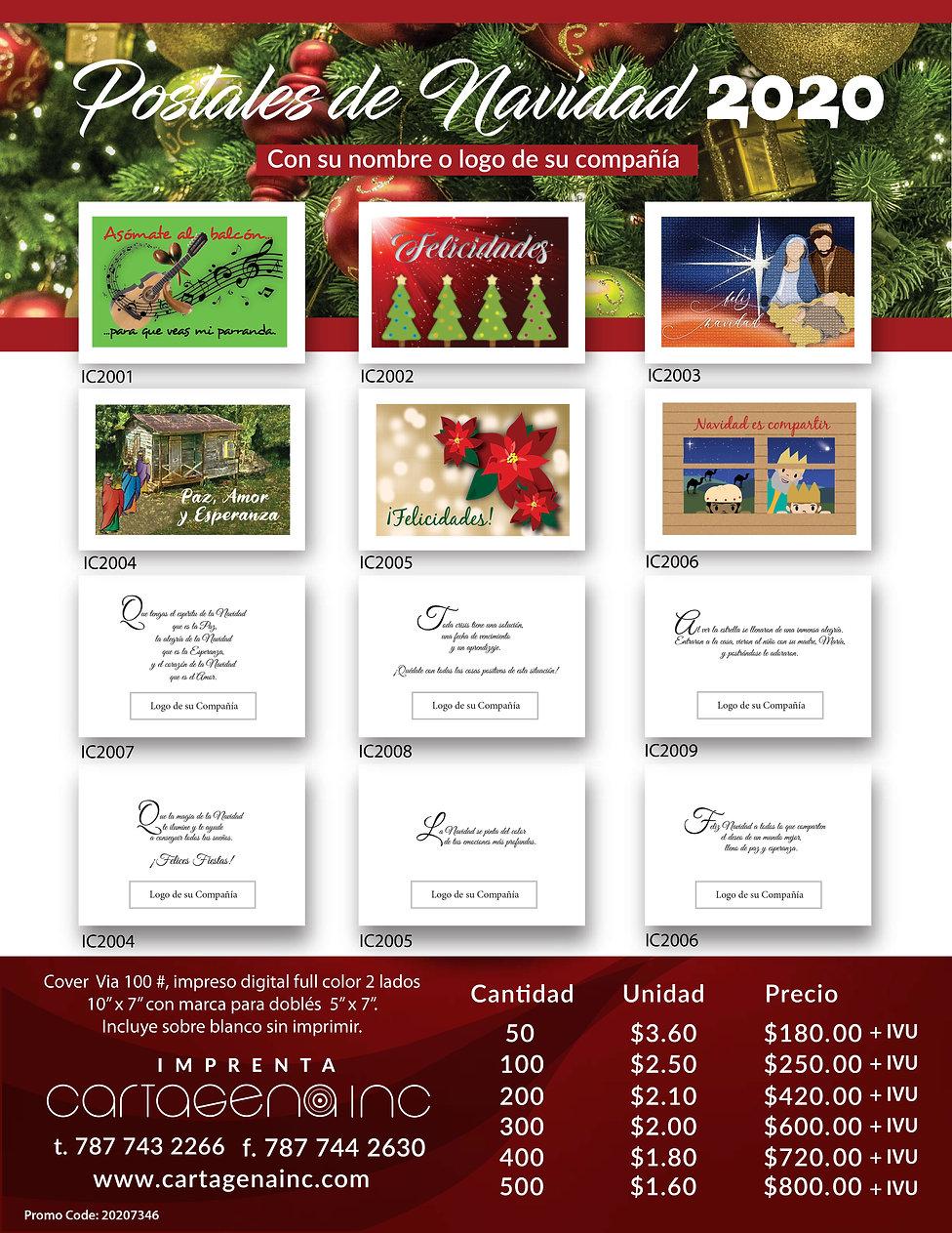 51185 Lista de Precios Postales Navidad