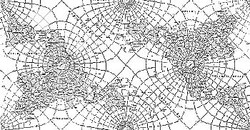 Peirce's Quincuncial World Map Projection