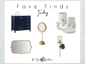 Fave Friday Finds - Bathroom Update