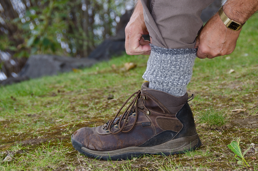 Tucking pants into socks reduces the chances of a tick bite.