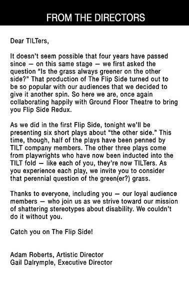 Notes From the Director - FlipSide Redux