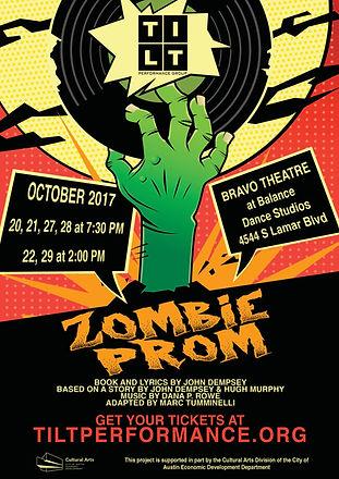 Zombie Prom Show Poster - TILT Performan