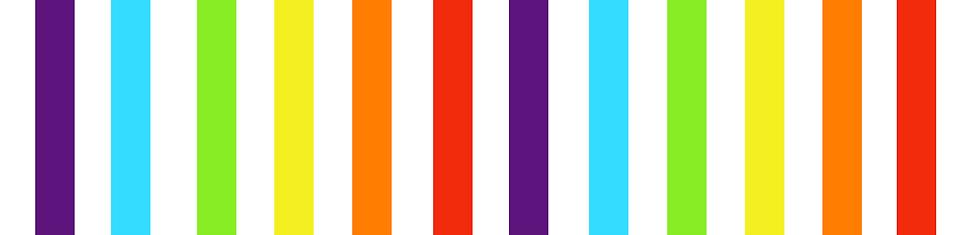 Rainbow colored stripes
