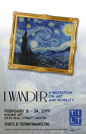 I wander poster