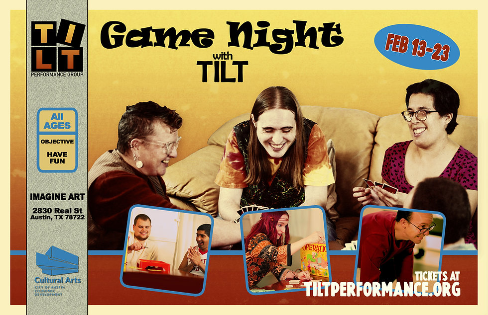 Game Night with TILT Show Poster - TILT