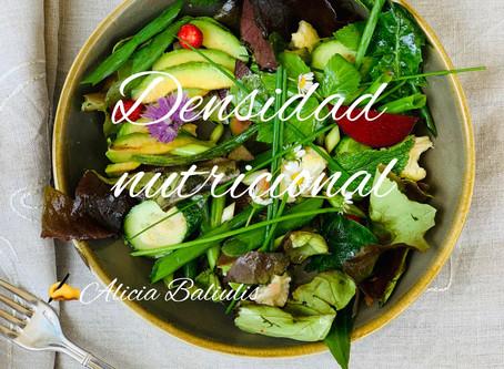 La densidad de los nutrientes