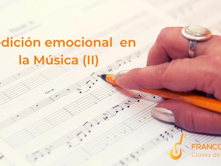 Medición emocional en la Música (II)