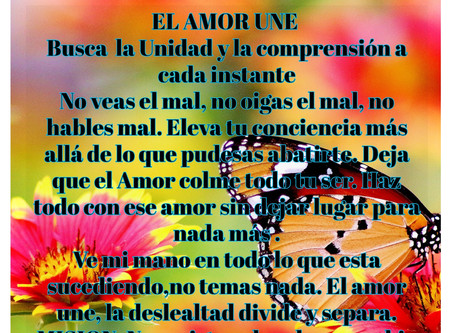 El Amor une- Busca la unidad y la comprensión a cada instante