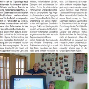 Neu: CareTable- der digitale Aktivitätstisch für Senioren