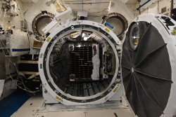 RemoveDEBRIS deploys from the International Space Station to begin its mission