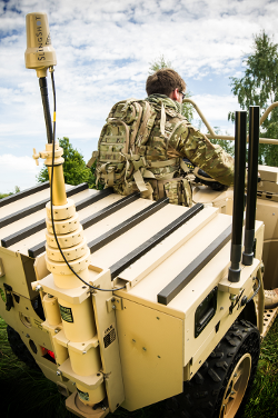 Units using SlingShot can maintain secure BLOS PTT comms on the move.