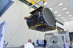 SSL satellite built for Bulgaria Sat arrives at Cape Canaveral launch base
