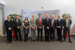 Leonardo hosts UK-France Space collaboration at its Southampton site to mark the delivery of the fir