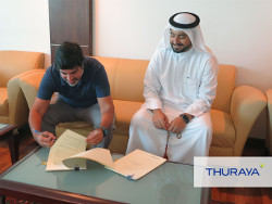 Thuraya CEO Ali Al Hashemi with Elcome Executive Director Jimmy Grewal - 1