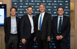 Dan Goldberg (Telesat), Steve Collar (SES), Stephen Spengler (Intelsat), Rodolphe Belmer (Eutelsat)