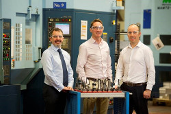 BGF invests a further £2.75 in Walker Precision Engineering (l-r) Gary Walker, Paddy Graham (BGF) and Mark Walker