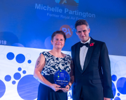 Women in Defence Awards - Michelle Partington and Rt Hon Gavin Williamson
