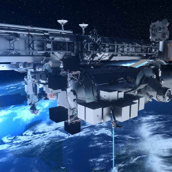 First high capacity space-to-ground laser communications system for the new European external ISS Pl