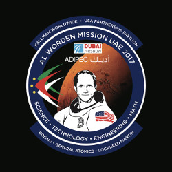 "Col. Worden's ""Mission UAE"" patch commemorates his first visit to the country to promote STEM education and exploration"