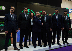 The team from Inmarsat, Turkish Technic and HAVELSAN announce their partnership