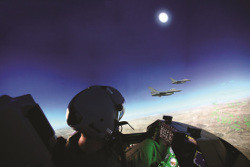 Pilot training in Elbit Systems skybreaker