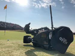 The Open 2018 wireless camera broadcast