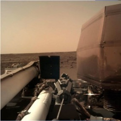 NASA's InSight Lander has begun operations on Mars with an SSL-built robotic arm. Image NASA