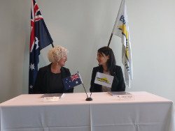 Alison Petchell, Assistant Secretary Critical System Branch, Capability, Acquisition and Sustainment Group (CASG) and Shirley Yonatan, VP Sales and Contracts, Elbit Systems of Australia