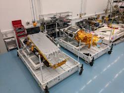 NovaSAR-1 & SSTL S1-4 in flight cases